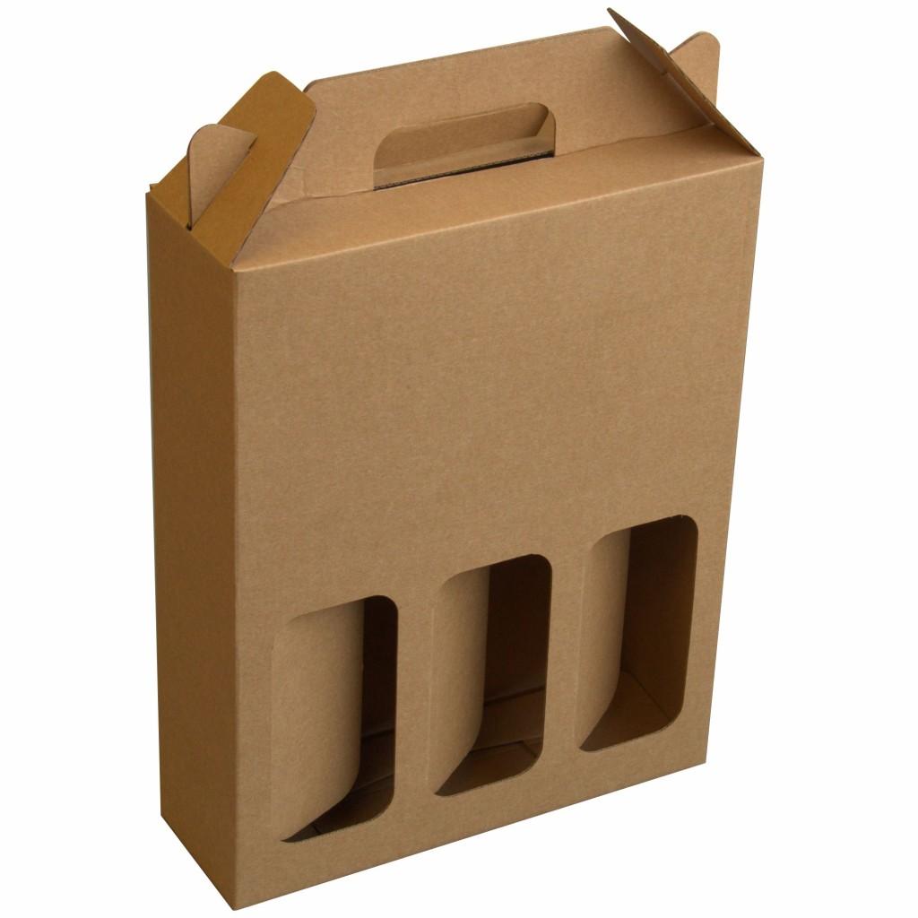 wine carry box tripple port nicholson packaging. Black Bedroom Furniture Sets. Home Design Ideas